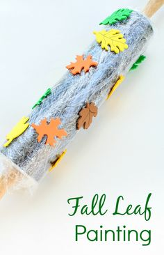 Rolling Pin Fall Leaf Painting