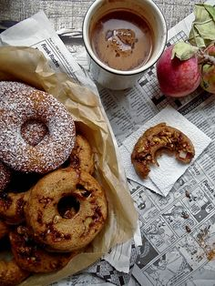 Pumpkin, apple, and gingerbread baked donuts