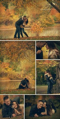 fall engagement photos are beautiful!
