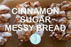 Cinnamon Sugar Messy Bread On Spoon Fork Bacon