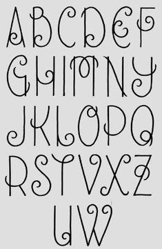 Journal, hand lettering, alphabet, font /hannahchute/ /sarahchute/ I love this girly handwriting Hand Lettering Alphabet, Doodle Lettering, Creative Lettering, Calligraphy Letters, Alphabet Fonts, Doodle Alphabet, Lettering Ideas, Hand Lettering Styles, Hand Drawn Typography