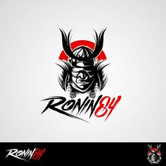 Logo design by Executor for Ronin84. A Japanese calligraphy themed illustration. #Japan #branding #design