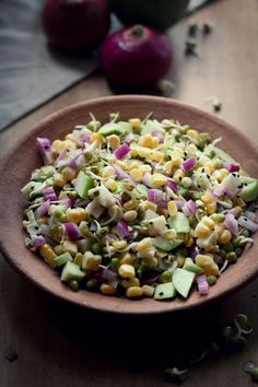 Guava, Sprouts, and Corn Salad