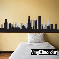 Chicago Illinois Skyline Vinyl Wall Decal or Car by VinylDisorder