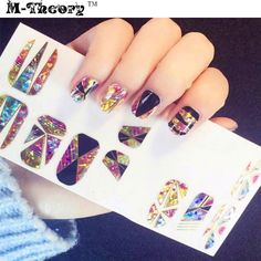 M-theory Adhesive Nails Wraps Stickers 3D Mosaics Nails Arts Polish Gel varnish Nails Decals Sticker Decorations Makeup Tools #Affiliate