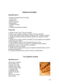 Recopilacion de recetas para cocinar con Thermomix