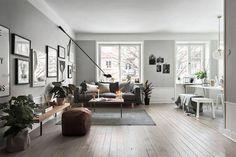 vosgesparis: A Scandinavian home with grey walls & an industrial touch