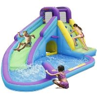 Bounceland Sun N' Fun Water Slide with Pool and Water Gun Backyard Water Parks, Backyard For Kids, Little Girl Toys, Toys For Girls, 8 Year Old Christmas Gifts, Water Park Rides, Cool Pool Floats, Disney Princess Toys, Inflatable Water Park