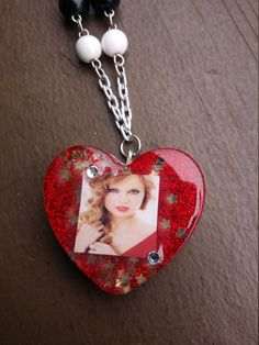 Taylor Swift Red Beaded Necklace by PsychoBoutique on Etsy