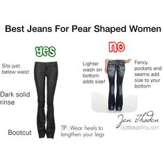 Best jeans for pear shaped women. For more style tips and outfit ideas for pear… Pear Shaped Dresses, Pear Shaped Outfits, Pear Shape Fashion, Triangle Body Shape, Pear Shaped Women, Beste Jeans, Pear Body, Body Shapes, Pear Shapes