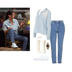 angelina jolie grunge Monica Geller - Fashion look - URSTYLE Rachel Green Outfits, Vintage Outfits, Retro Outfits, 90s Fashion, Fashion Looks, Fashion Outfits, Grunge Fashion, Fashion Today, Tomboy Outfits