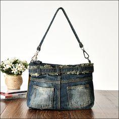 Denim Shoulder Bags, Bag Patterns, Denim Bag, Store, Fashion, Bags, Jean Bag, Moda, Fashion Styles