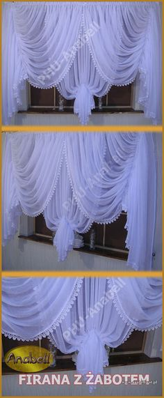 Biała / Ecru Firana with Jabot + Sweet Guipure WOAL - 2992210620 - Official Al . Biała / Ecru Firana with Jabot + Guipure WOAL – 2992210620 – official Allegro archive curtain Bathroom Window Curtains, Bathroom Windows, Window Drapes, Kitchen Curtains, Window Coverings, Window Treatments, No Sew Curtains, Rod Pocket Curtains, Sheer Curtains
