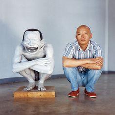Yue Minjun (岳敏君, was born in 1962, Heilongjiang, China)