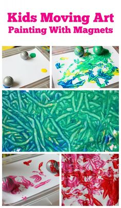 Painting with Magnets is a fantastic - moving - kids art activity.