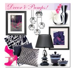 """Decor & Pumps"" by designsbylea ❤ liked on Polyvore featuring interior, interiors, interior design, home, home decor, interior decorating, The Rug Market, Tom Dixon, Hotel Collection and Christian Louboutin"