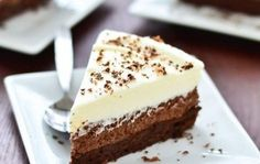Looking for Fast & Easy Cake Recipes, Dessert Recipes! Find more recipes like Triple Chocolate Mousse Cake. Triple Chocolate Mousse Cake, White Chocolate Chips, Chocolate Curls, Chocolate Mouse Cake, Food Cakes, Cupcake Cakes, Cupcakes, Kahlua Cake, Chocolate Extract