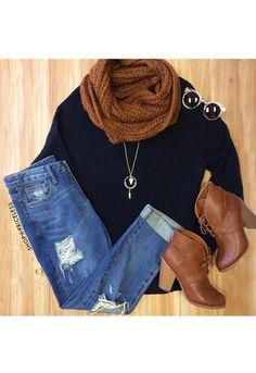 Isabelle Oversized Sweater - Black