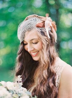 Beautiful Bride - Birdcage Veil. On Style Me Pretty: http://www.StyleMePretty.com/2014/03/06/fall-wedding-at-cherry-basket-farm/ Photography: Michelle March