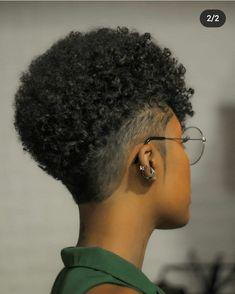 Natural Hair Short Cuts, Short Natural Haircuts, Tapered Natural Hair, Short Sassy Hair, Natural Afro Hairstyles, Short Hair Cuts, Cool Hairstyles, Natural Hair Styles, Undercut Natural Hair