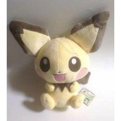 Pokemon 2014 Banpresto UFO Game Catcher Prize I Love Pikachu Series Pichu DX Plush Toy