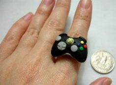 GUO GUO'S- Handmade Polymer Clay XBOX 360 Controller Ring / Necklace, made to order