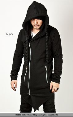 http://www.rebelsmarket.com/products/striking-asymmetric-assassin-creed-thick-rope-strap-accent-long-zip-up-hoodie-black--51401