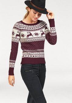Das traditionelle Norwegermuster mit den springenden Rentieren macht diesen tollen Pullover von AJC besonders authentisch und zum neuen Lieblingsstück für kalte Tage. Das Strickmuster ist sehr aufwendig gearbeitet und ein echter Eyecatcher.