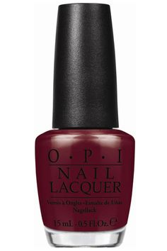 Why we love it: It's a staple oxblood hue that's truly the new neutral. OPI Nail Lacquer in Lost On Lombard, $9, opi.com for salons.