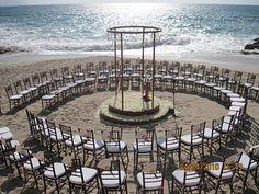 Round ceremony on Conchas Chinas Beach