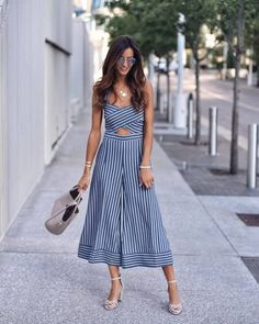 47 Lovely Summer Outfit Ideas For Women 2019 - combinaison Dress Outfits, Casual Dresses, Cute Outfits, Fashion Outfits, Womens Fashion, Fashion Trends, Teen Outfits, Cheap Fashion, Maxi Dresses