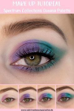 Buntes Augen Make-up inklusive Schminkanleitung mit der neuen Oceana Lidschattenpalette von Spectrum Collections. Tierversuchsfreies Make-up! In meinem Step by Step Make-up Tutorial zeige ich Dir, wie du diesen schimmernden, bunten Look zu Hause nachchminken kannst. #makeuplook #makeuptutorial #eyemakeup #augenmakeup