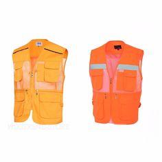 Safety Mesh Work Vest High Visibility Yellow Reflective Strips Jacket XS-XL size #Markapparel #Vest