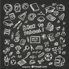 Hand-drawn school graphics on Behance