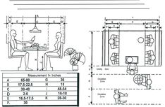 restaurant bench seating dimensions metric - Google Search