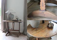 Wijntafel table vigneron klaptafel
