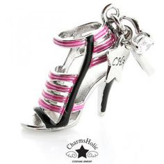 Two-Tone Strappy Sandal Charm Big Jewelry, Strappy Sandals, Charmed, Heels, Fashion, Heel, Moda, Fashion Styles, Strap Sandals