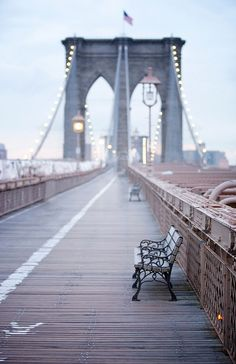 The Brooklyn Bridge: one of the city's most picturesque landmarks.