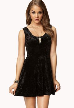 Velveteen Skater Dress | FOREVER21 - 2030224938