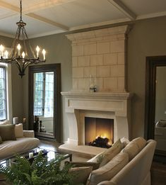 Simple corbels for fireplace
