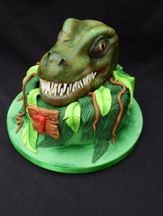 3D T-Rex Cake by Elizabeth Miles Cake Design