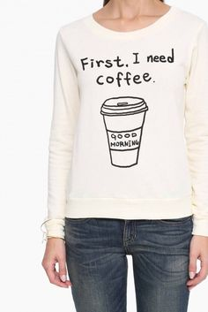 Deposit Coffee Please Sweater in Ivory | Necessary Clothing