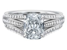 Not a double, but a triple split diamond ring! Look pretty in platinum with this Precision Set.