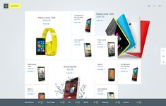 Phone Listing Layout Design by Julien Renvoye