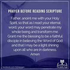 Prayer before reading scripture