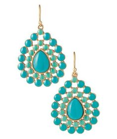 Stella & Dot Charlize Teardrop Earrings  No matter what else you wear, these vibrant turquoise-toned danglers will garner all the compliments.