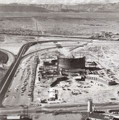 Ceasar's Palace construction, in Las Vegas, circa 1965.