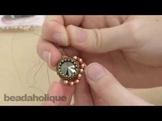 ▶ How to Embellish a Beaded Bezel for the Shady Glade Necklace - YouTube