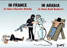 #JeSuisCharlie #CharlieHebdo en France, en Arabie #JeSuisRaifBadawi #Odamis @RadioCanadaInfo de #Montreal au #Québec