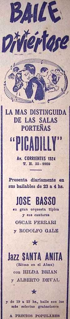 Picadilly Bailable 1945's